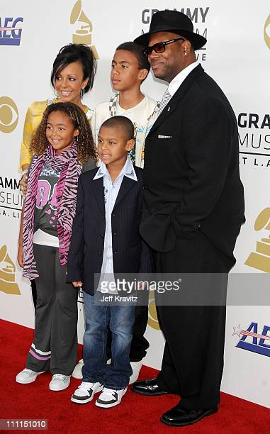Producer Jimmy Jam and family arrive to the Grammy Nominations Concert LIVE! held at the Nokia Theatre L.A. LIVE on December 3, 2008 in Los Angeles,...