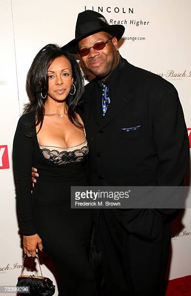 Producer Jimmy Jam and his wife Lisa Padilla arrive to the Ebony PreOscar celebration at Jim Henson Studios on February 22 2007 in Los Angeles...