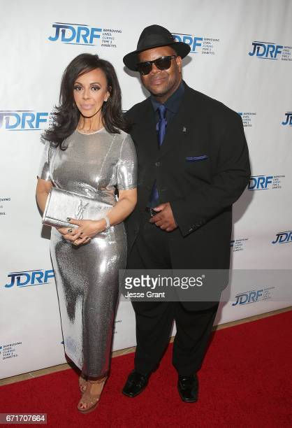 Producer Jimmy Jam and Lisa Harris attend the JDRF LA Chapter's Imagine Gala held at The Beverly Hilton Hotel on April 22 2017 in Beverly Hills...