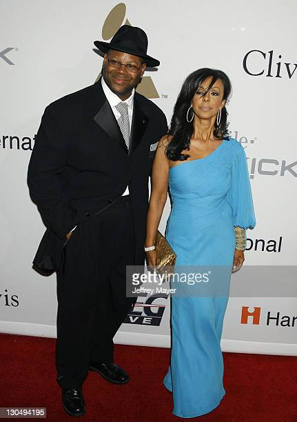 Producer Jimmy Jam and wife Lisa Padilla arrive at Clive Davis' Annual PreGrammy Gala at the Beverly Hilton Hotel on February 7 2009 in Beverly Hills...