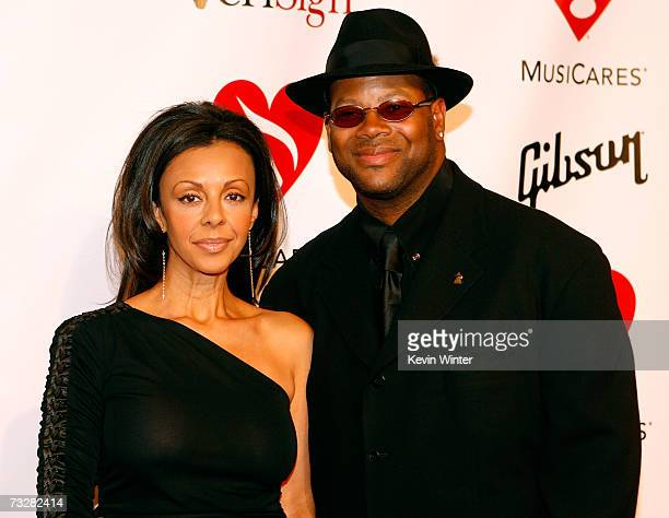 Producer Jimmy Jam and wife Lisa Padilla arrives at the 2007 MusiCares Person of the Year honoring Don Henley at the Los Angeles Convention Center on...