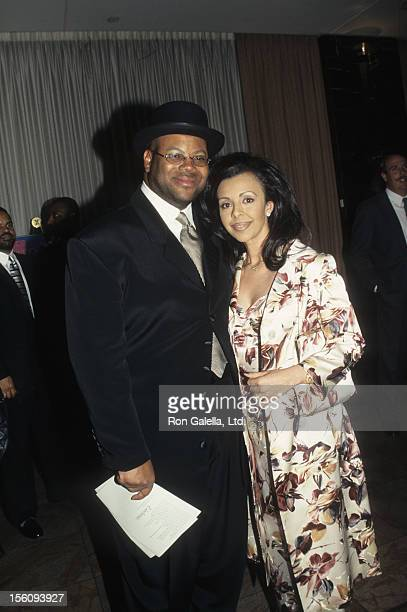 Producer Jimmy Jam and wife Lisa Padilla attend 22nd Annual TJ Martell Foundation on May 8 1997 at the New York Hilton Hotel in New York City