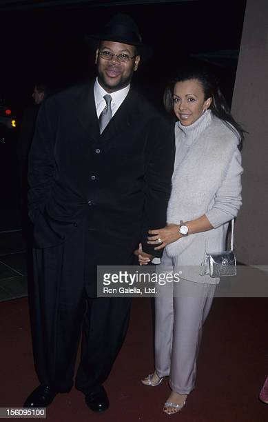 Producer Jimmy Jam and wife Lisa Padilla attend 26th Annual Clive Davis PreGrammy Party on February 20 2001 at the Beverly Hills Hotel in Beverly...