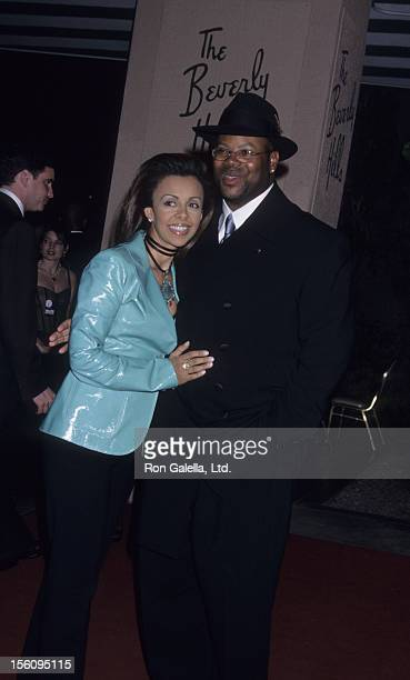 Producer Jimmy Jam and wife Lisa Padilla attend 27th Annual Clive Davis PreGrammy Party on Febraury 26 2002 at the Beverly Hills Hotel in Beverly...