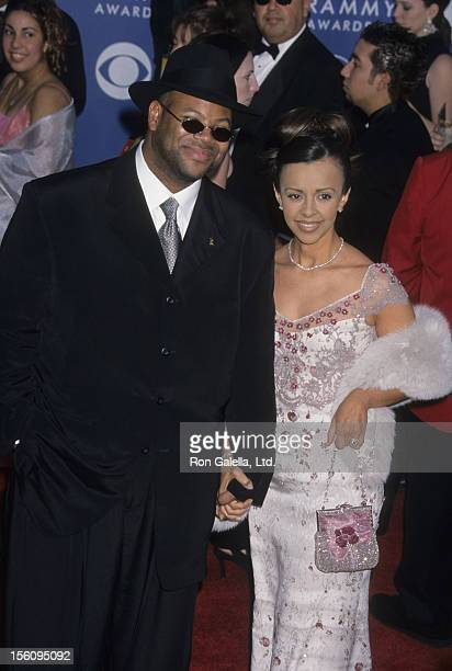 Producer Jimmy Jam and wife Lisa Padilla attend 43rd Annual Grammy Awards on February 21 2001 at the Staples Center in Los Angeles California