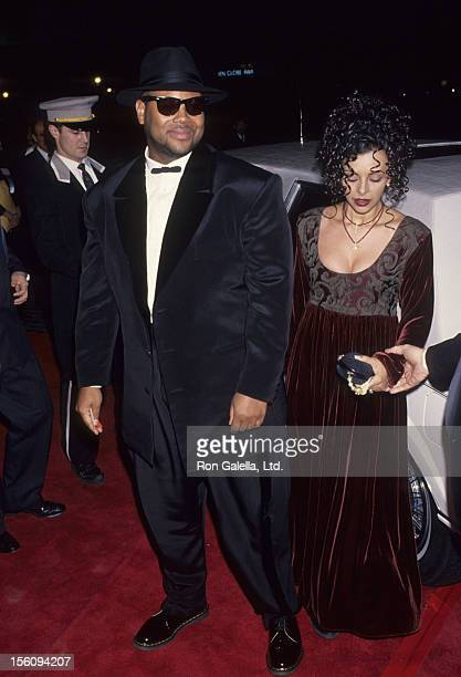 Producer Jimmy Jam and wife Lisa Padilla attend 51st Annual Golden Globe Awards on January 22 1994 at the Beverly Hilton Hotel in Beverly Hills...