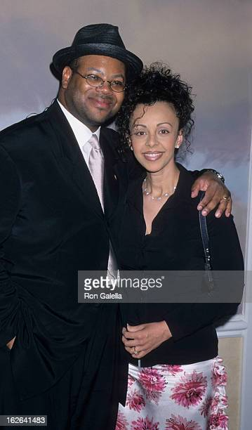 Producer Jimmy Jam and wife Lisa Padilla attend NARAS Los Angeles Chapter Governors Awards on June 15, 2000 at the Beverly Hills Hotel in Beverly...