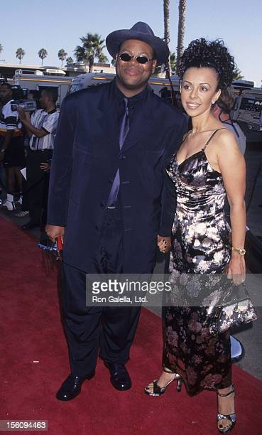 Producer Jimmy Jam and wife Lisa Padilla attend Soul Train Lady of Soul Awards on September 5 1997 at the Santa Monica Civic Auditorium in Santa...