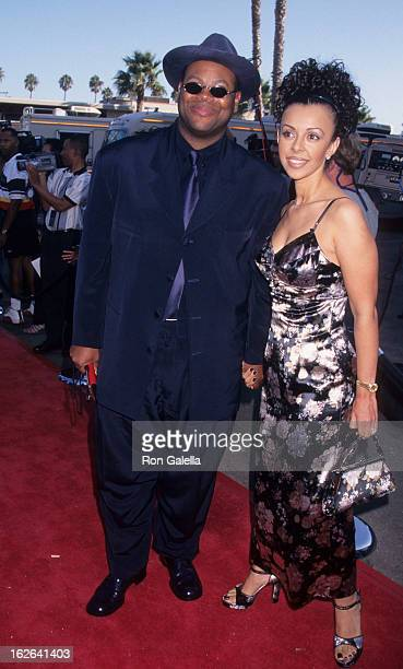 Producer Jimmy Jam and wife Lisa Padilla attend Soul Train Lady of Soul Awards on September 5, 1997 at the Santa Monica Civic Auditorium in Santa...