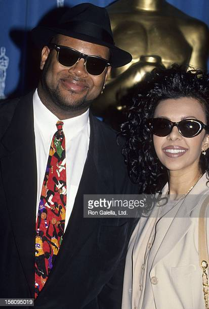 Producer Jimmy Jam and wife Lisa Padilla attend the nominations luncheon for 66th Annual Academy Awards on March 8 1994 at the Beverly Hilton Hotel...