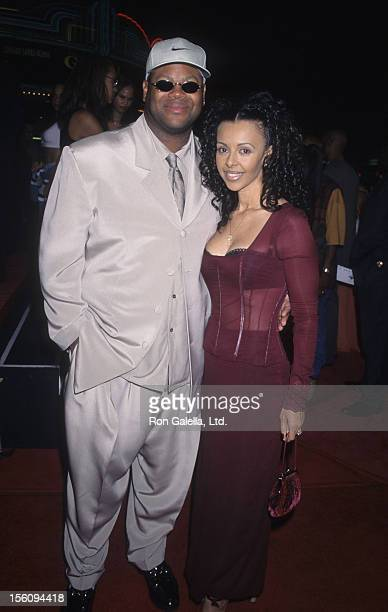 Producer Jimmy Jam and wife Lisa Padilla attend the world premiere of 'Soul Food' on September 18 1997 at Mann Village Theater in Westwood California