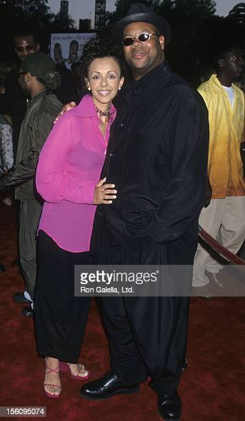 Producer Jimmy Jam and wife Lisa Padilla attend the world premiere of 'Nutty Professor IIThe Klumps' on July 24 2000 at the Universal Ampitheater in...