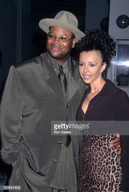 Producer Jimmy Jam and wife Lisa Padilla attend Virgin Records Party for Janet Jackson The Velvet Rope on September 9 1997 at Sony Studios in Culver...