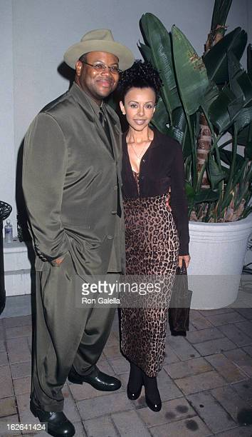 "Producer Jimmy Jam and wife Lisa Padilla attend Virgin Records Party for Janet Jackson ""The Velvet Rope"" on September 9, 1997 at Sony Studios in..."