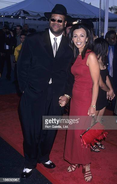 Producer Jimmy Jam and wife Lisa Padilla attends 12th Annual Soul Train Music Awards on February 27 1998 at the Shrine Auditorium in Los Angeles...