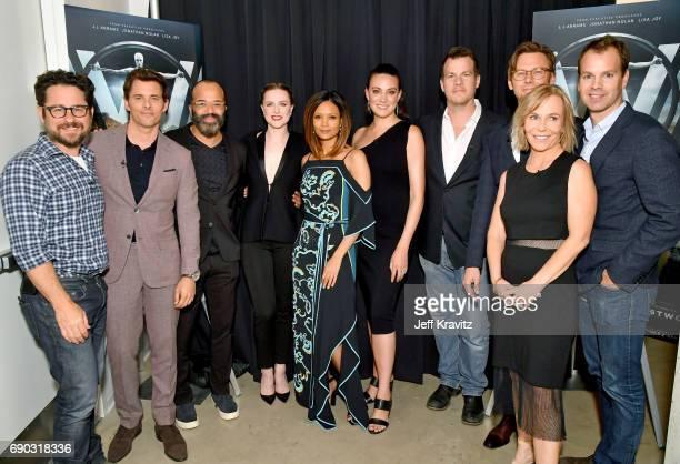 Producer JJ Abrams actors James Marsden Jeffrey Wright Evan Rachel Wood Thandie Newton executive producer/writer Lisa Joy executive...
