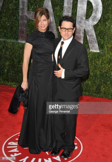 Producer JJ Abrams and Katie McGrath arrive at the 2010 Vanity Fair Oscar Party hosted by Graydon Carter held at Sunset Tower on March 7 2010 in West...