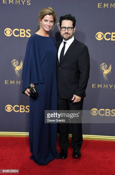 Producer JJ Abrams and Katie McGrath attend the 69th Annual Primetime Emmy Awards at Microsoft Theater on September 17 2017 in Los Angeles California