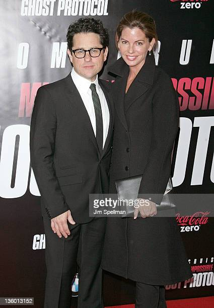 """Producer J.J. Abrams and wife Katie McGrath attend the """"Mission: Impossible - Ghost Protocol"""" U.S. Premiere at the Ziegfeld Theatre on December 19,..."""