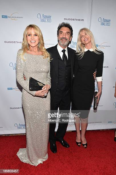 Producer Joan Dangerfield producer Chuck Lorre and guest arrive to the 2013 UCLA Neurosurgery Visionary Ball at the Beverly Wilshire Four Seasons...