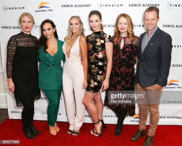 Producer Joanna Werner and Actors Dena Kaplan Alicia Banit Xenia Goodwin Miranda Otto and Director Jeffrey Walker attend the premiere of 'Dance...