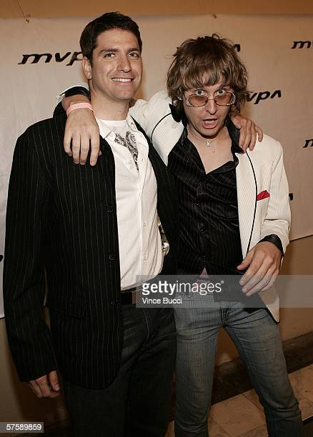 Producer Joe Lava and singer Kennedy attend the Music Video Production Association's 15th Annual MVPA Awards at the Orpheum Theatre on May 11 2006 in...