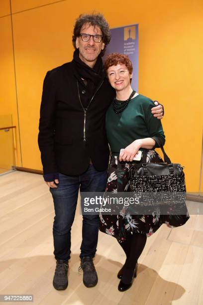 Producer Joel Coen and Francesca Bianchi attend the Academy Museum Conversation at The Times Center featuring Whoopi Goldberg Kerry Brougher and...