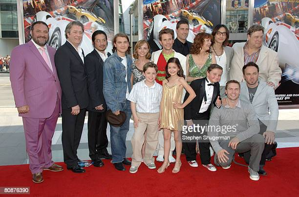 Producer Joel Silver actors Roger Allam Hiroyuki Sanada Emile Hirsch Christina Ricci Christian Oliver Matthew Fox Susan Sarandon Rain and John...