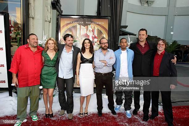 Producer Joel Silver Elizabeth Banks John Michael Higgins Rachel Weisz Paul Giamatti Chris Ludacris Bridges Vince Vaughn and director David Dobkin at...