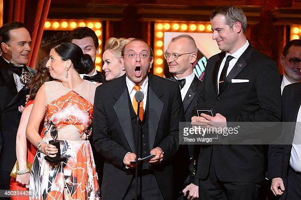 Producer Joey Parnes accepts the award for Best Musical for A Gentleman's Guide to Love Murder onstage during the 68th Annual Tony Awards at Radio...