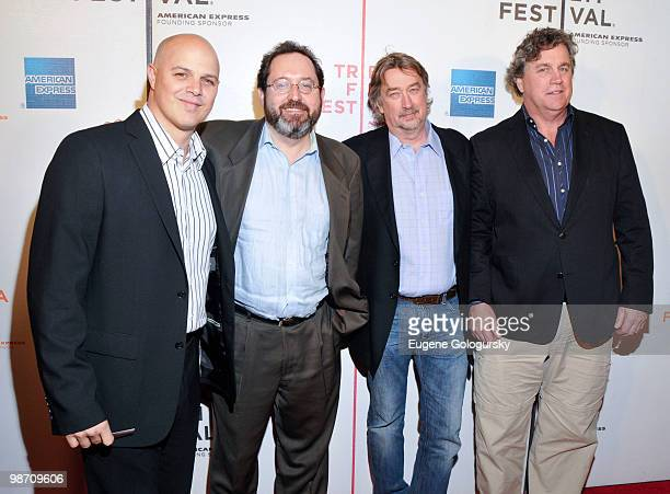 Producer Joey Rappa Sony Picture Classics Co Presidents Michael Barker and Tom Bernard with CCO of Tribeca Enterprises Geoffrey Gilmore attend the...