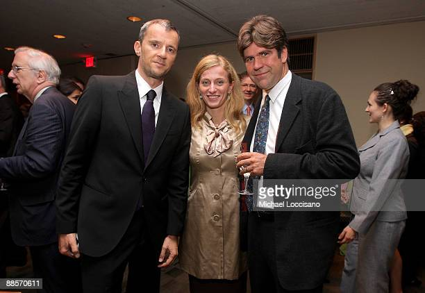 Producer John Battsek Film Subject Carolina Larriera and Director Greg Barker attend the HBO documentary screening of Sergio at United Nations on...