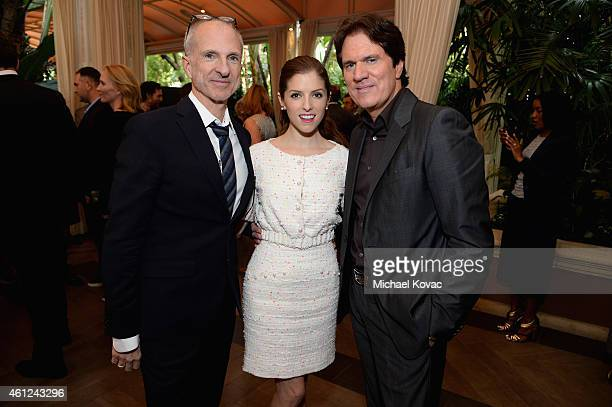 Producer John DeLuca, actress Anna Kendrick, and director Rob Marshall attend the 15th Annual AFI Awards Luncheon at Four Seasons Hotel Los Angeles...