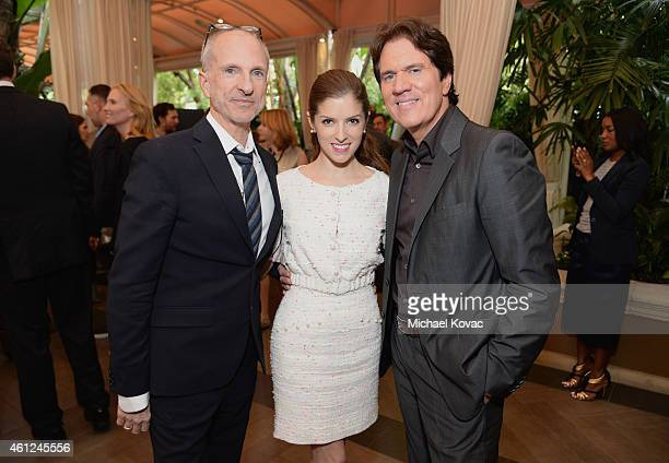 Producer John DeLuca, actress Anna Kendrick and director Rob Marshall attend the 15th Annual AFI Awards Luncheon at Four Seasons Hotel Los Angeles at...
