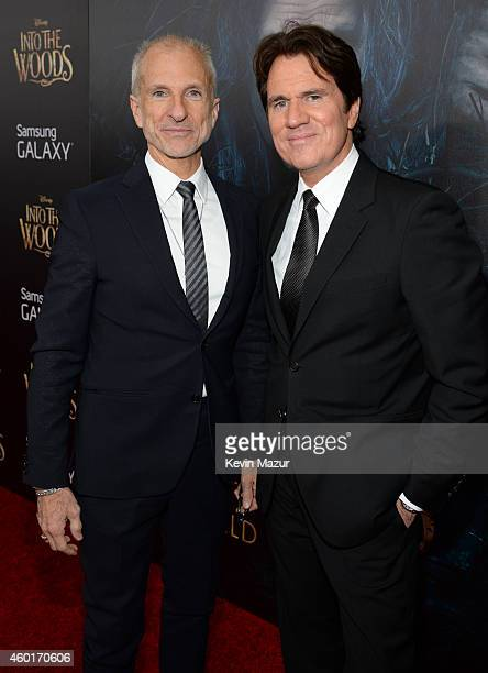 Producer John DeLuca and director Rob Marshall attend the world premiere of 'Into the Woods' at the Ziegfeld Theatre on December 8 2014 in New York...