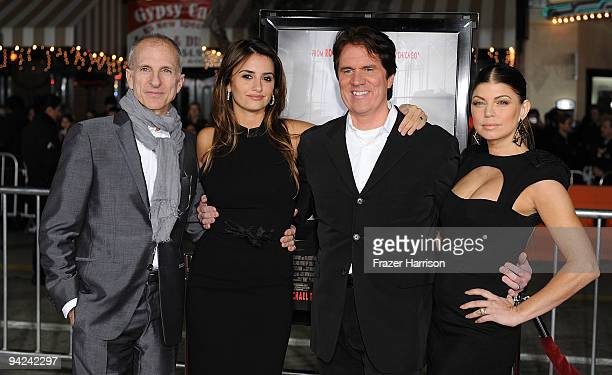 """Producer John DeLuca, Penelope Cruz,actress Rob Marshall, director and Singer/actress Stacy """"Fergie"""" Ferguson and arrive at a special screening of..."""