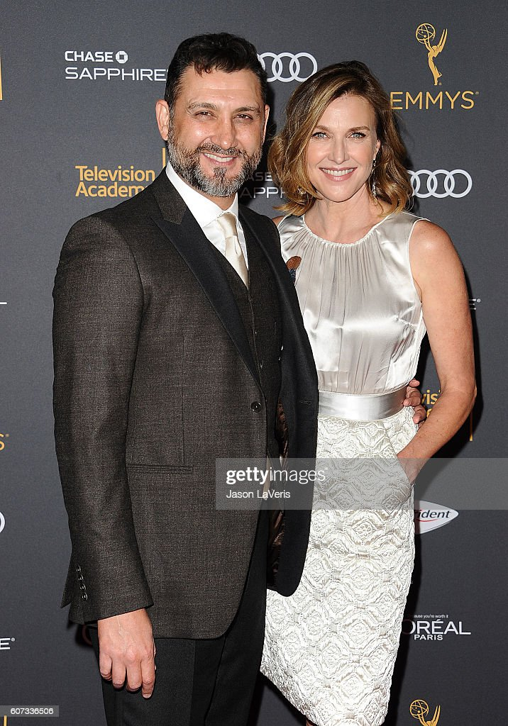 Producer John Farmanesh-Bocca and actress Brenda Strong attend the Television Academy reception for Emmy nominated performers at Pacific Design Center on September 16, 2016 in West Hollywood, California.