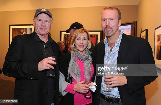 Producer John Fiedler actress Bess Armstrong and Africa Program Director for The Nature Conservancy David Banks attend a party for the upcoming...