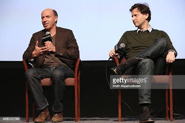 Producer John Kilik and director Bennett Miller speak onstage during Deadline's The Contenders at DGA Theater on November 1 2014 in Los Angeles...