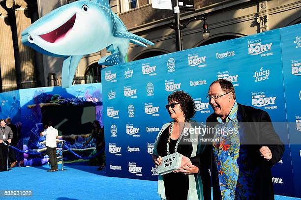 Producer John Lasseter and Nancy Lasseter attend the world premiere of DisneyPixar's 'Finding Dory' at the El Capitan Theatre 2016 in Hollywood...