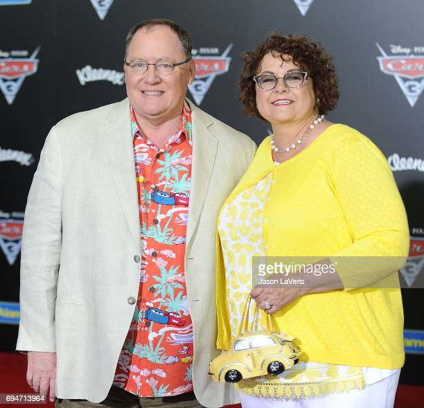 Producer John Lasseter and wife Nancy Lasseter attend the premiere of 'Cars 3' at Anaheim Convention Center on June 10 2017 in Anaheim California