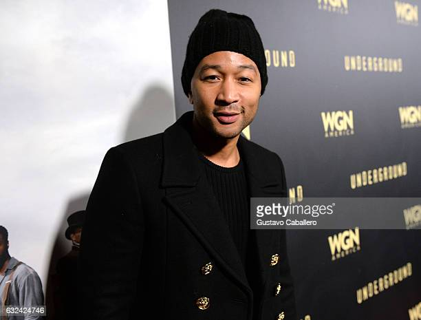 Producer John Legend attends WGN America's 'Underground' Season Two Party hosted by John Legend at 2017 Sundance Film Festival on January 21 2017 in...