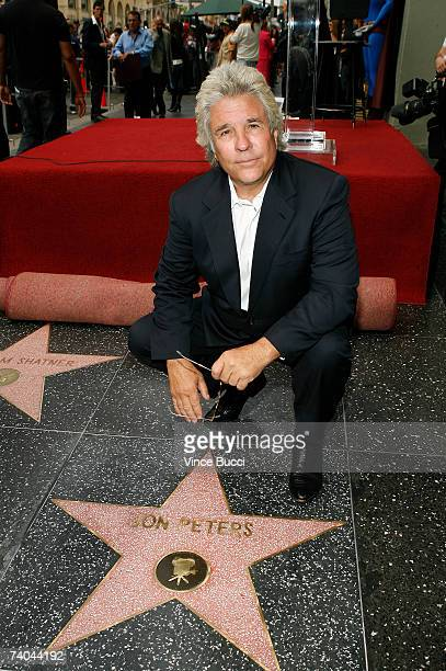 Producer John Peters poses at the ceremony honoring him with a star on the Hollywood Walk of Fame May 1, 2007 in Hollywood, California.