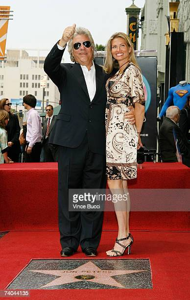Producer John Peters poses with his wife Mindy at the ceremony honoring him with a star on the Hollywood Walk of Fame May 1 2007 in Hollywood...