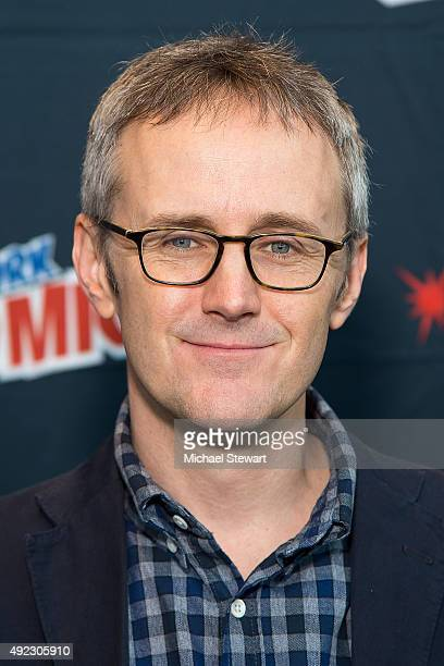 Producer John Stephens poses in the press room for the Gotham panel during ComicCon Day 4 at The Jacob K Javits Convention Center on October 11 2015...