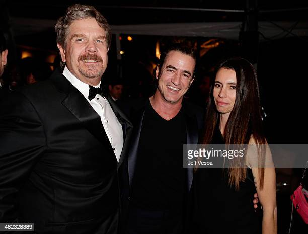 Producer John Wells Dermot Mulroney and Tharita Catulle attend The Weinstein Company Netflix's 2014 Golden Globes After Party presented by Bombardier...