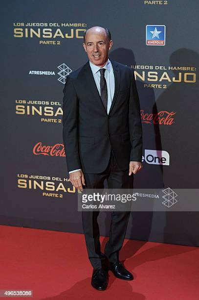 Producer Jon Kilik attends The Hunger Games Mockingjay Part 2 premiere at the Kinepolis Cinema on November 10 2015 in Madrid Spain