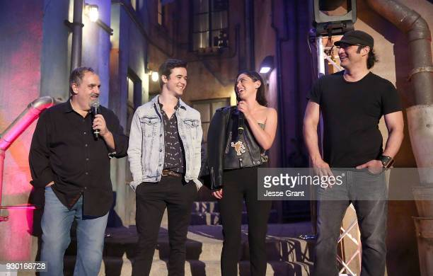 Producer Jon Landau actor Keean Johnson actor Rosa Salazar and director Robert Rodriguez attend the SXSW Film Opening Night Party presented by Alita...