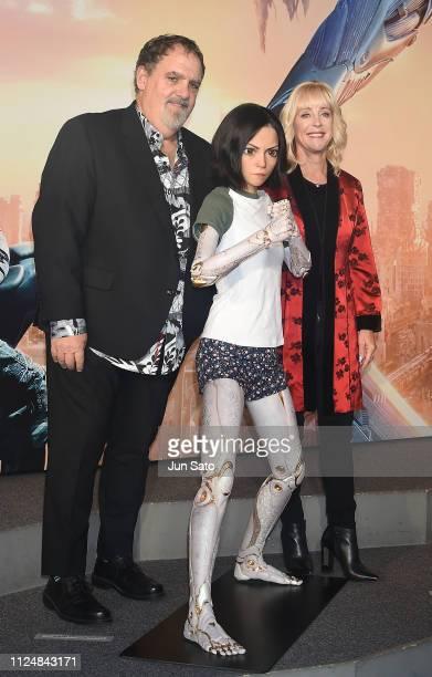 Producer Jon Landau and his wife Julie Landau attend the premier of 'Alita Battle Angel' at VR Zone Shinjuku on February 14 2019 in Tokyo Japan