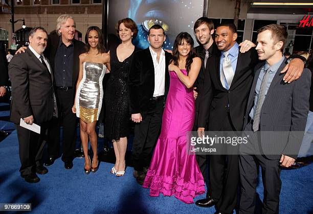 Producer Jon Landau director James Cameron actress Zoe Saldana actress Sigourney Weaver actor Sam Worthington actress Michelle Rodriguez actor Joel...
